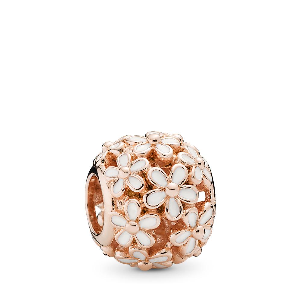 Champ de charmantes marguerites, Rose, émail blanc, PANDORA ROSE, émail, Blanc, Aucune pierre - PANDORA - #780004EN12
