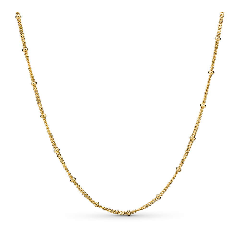 Pandora Shine™ Beaded Necklace, 18ct gold-plated sterling silver - PANDORA - #367210