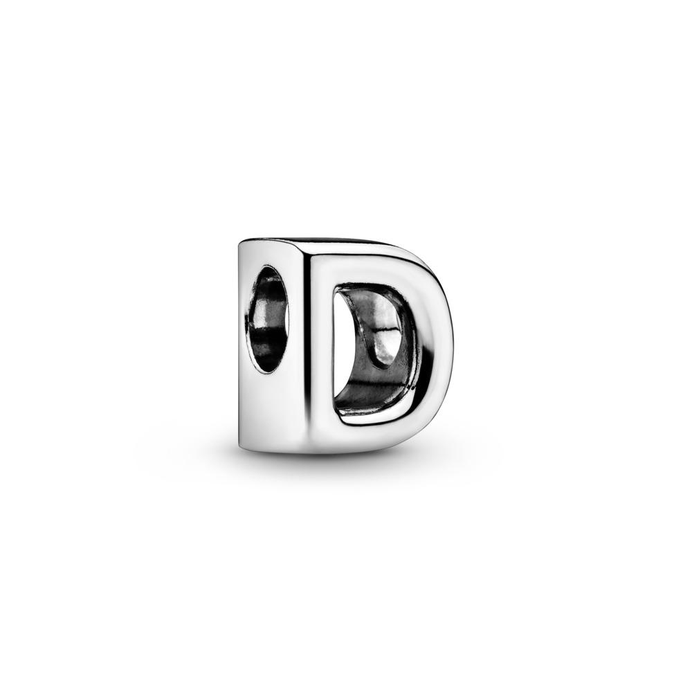 Letter D Charm, Sterling silver - PANDORA - #797458