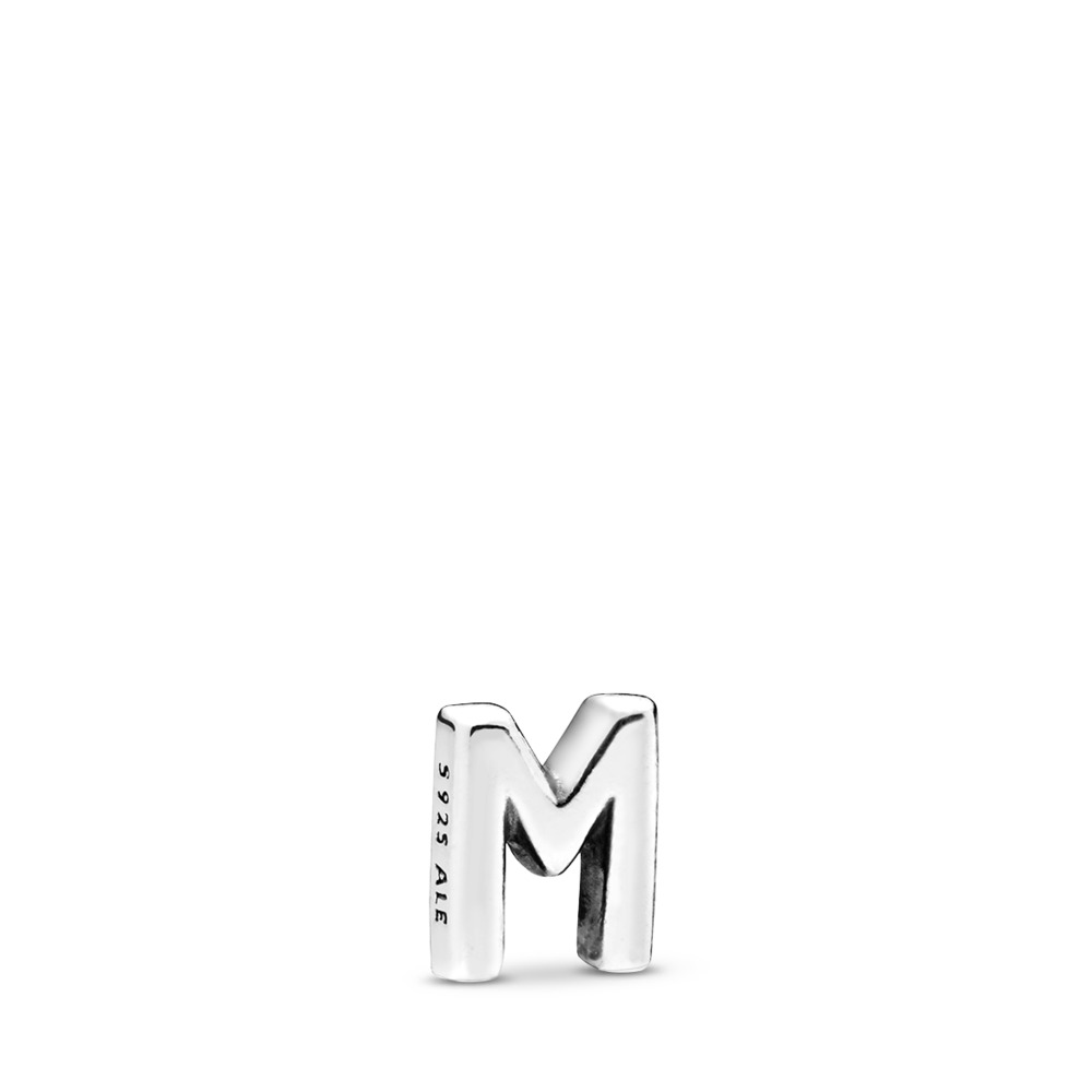 Letter M Petite Charm, Sterling silver - PANDORA - #797331