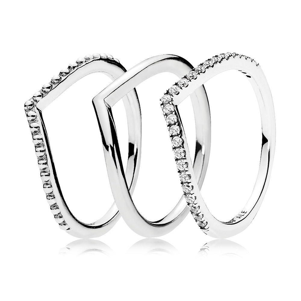 Superposition de bagues Souhait, Sterling Silver - PANDORA - #CS1712