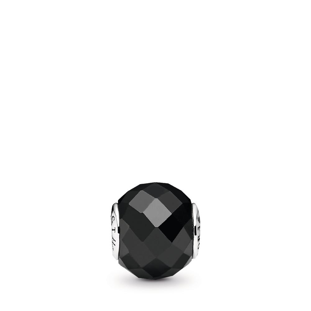 FORCE, Argent sterling, Silicone, Spinelle noir - PANDORA - #796000SPB