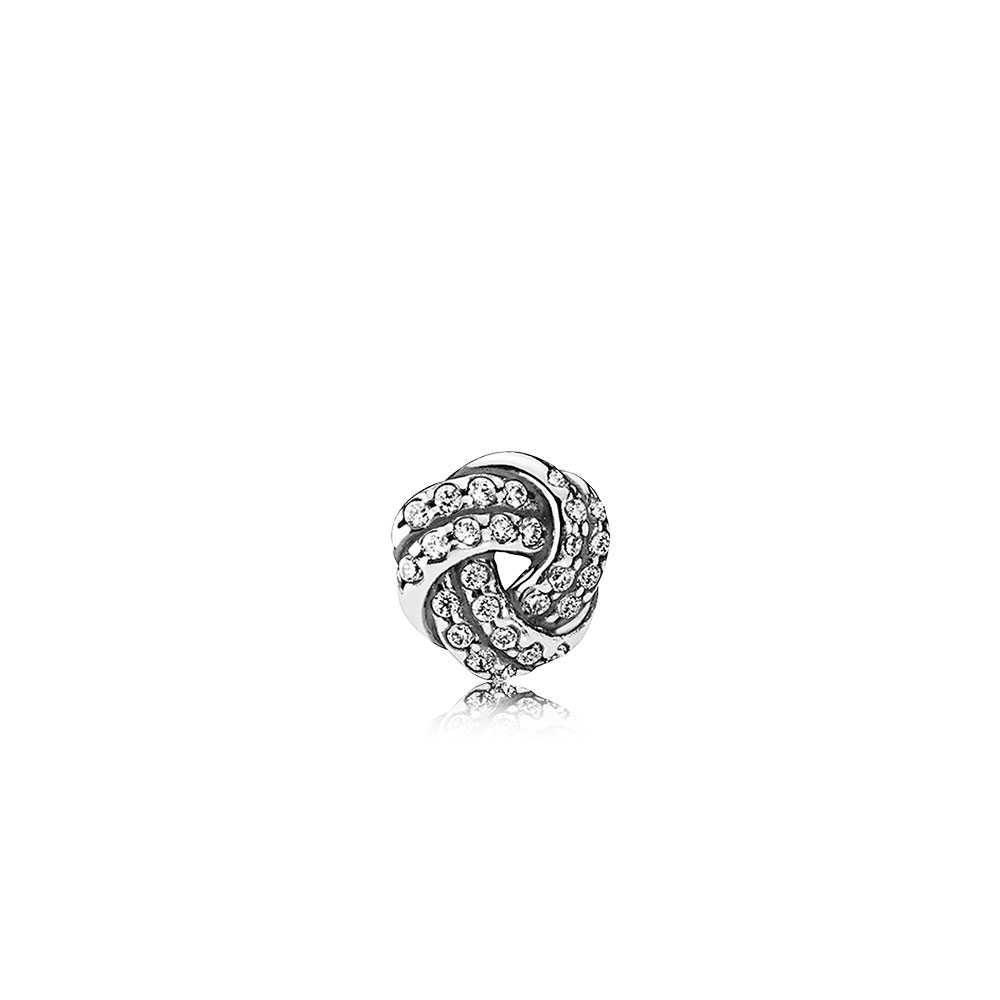 Sparkling Love Knot Petite Clear Cz Pandora Jewellery Online Store