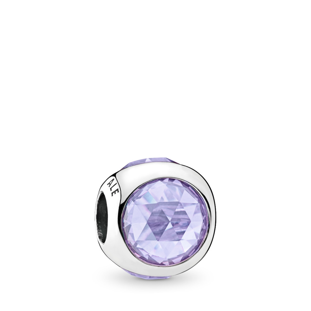 Radiant Droplet, Lavender CZ, Sterling silver, Purple, Cubic Zirconia - PANDORA - #792095LCZ