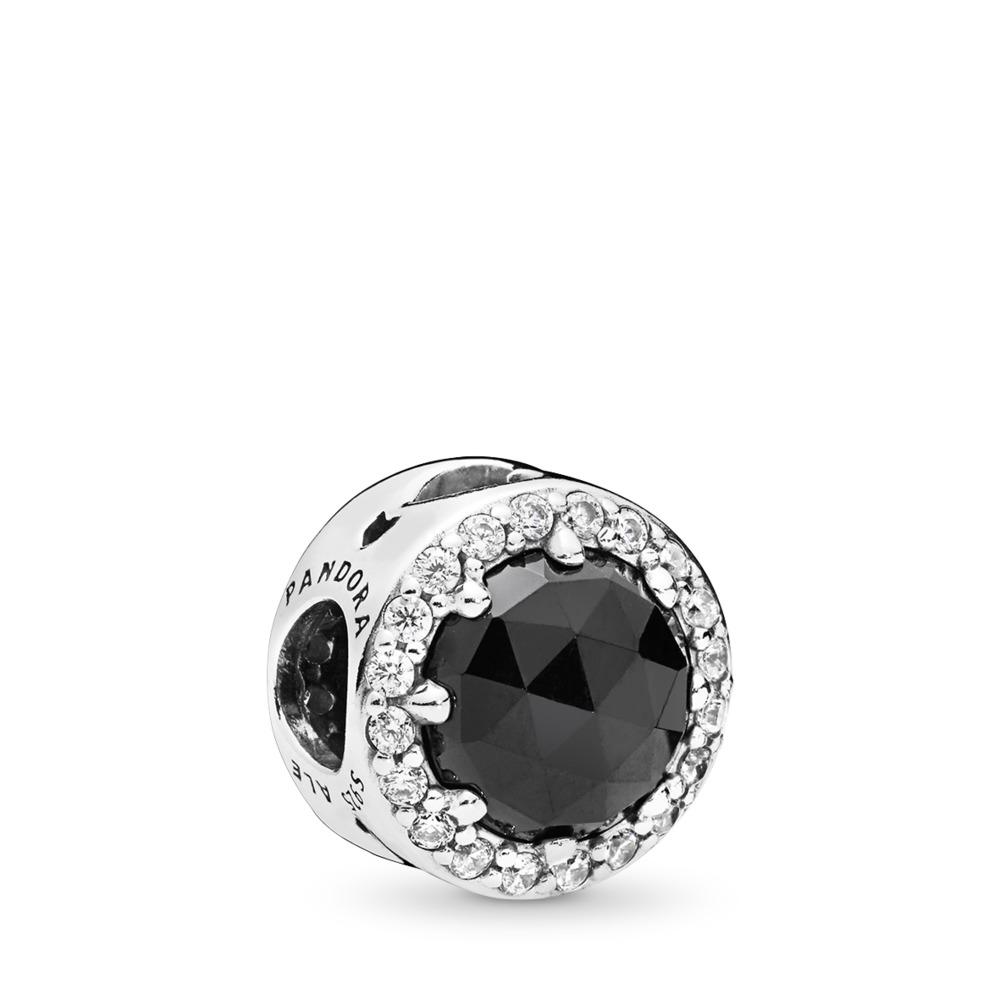 Charm Disney, La magie noire de la Reine-sorcière, cristaux noirs et cz incolore, Argent sterling, Aucun autre matériel, Pierres mélangées - PANDORA - #797487NCK
