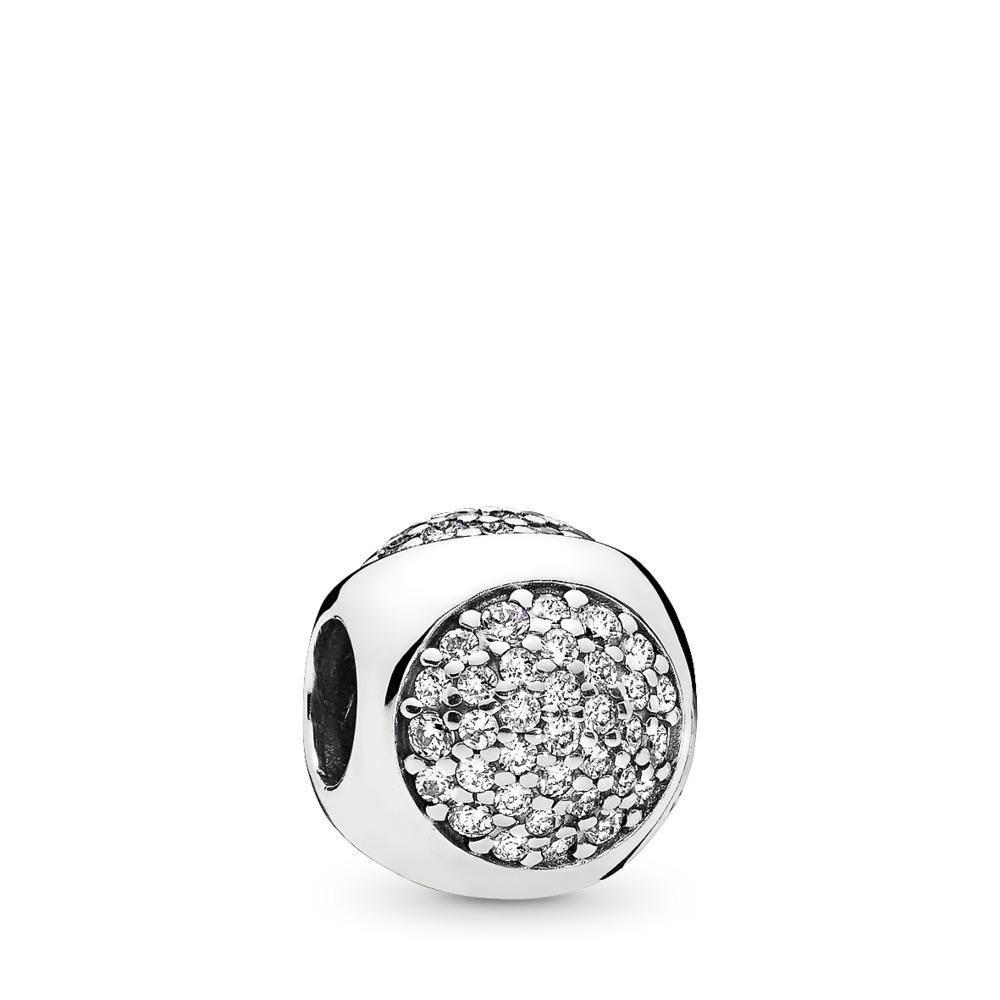 Dazzling Droplet, Clear CZ, Sterling silver, Cubic Zirconia - PANDORA - #796214CZ