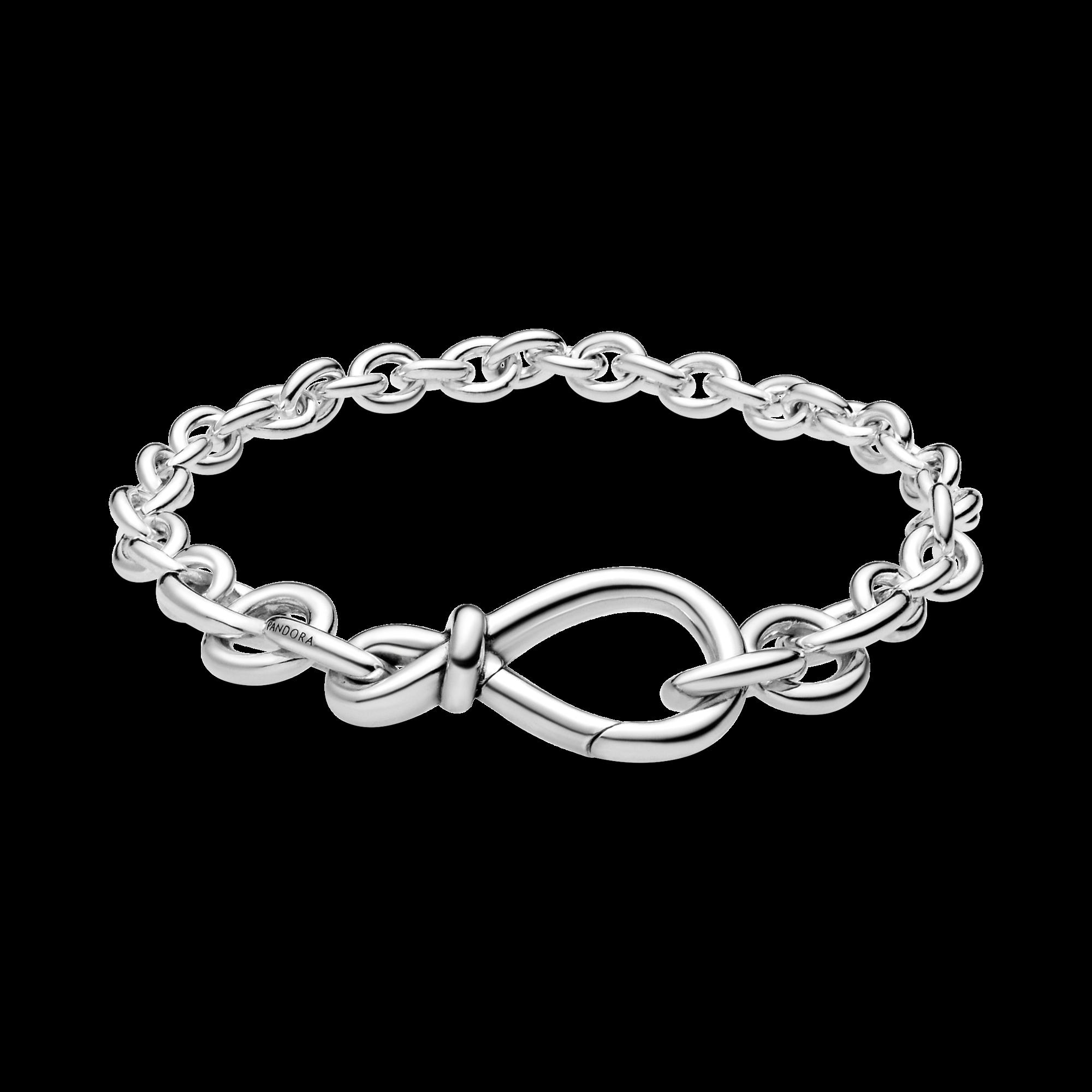 Chaîne bracelet avec un gros nœud infini