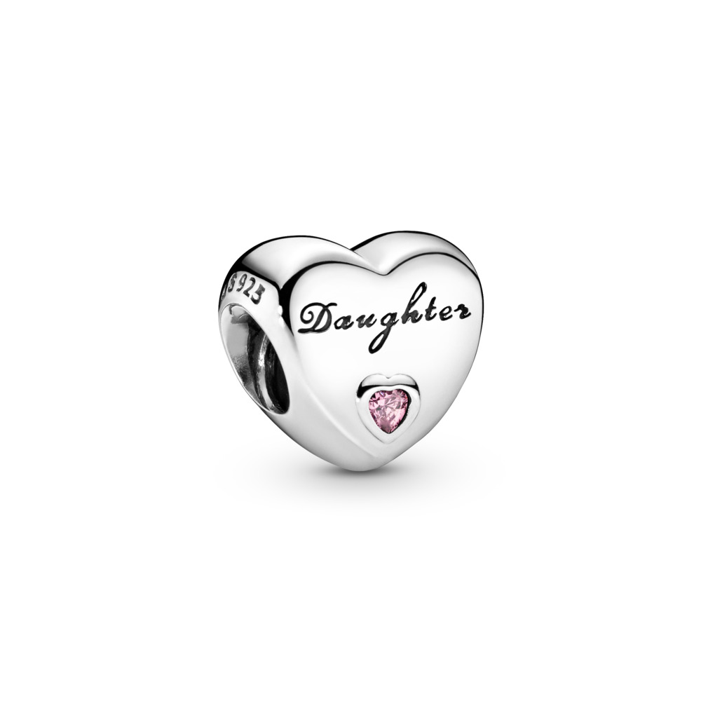 Daughter's Love, Clear CZ, Sterling silver, Pink, Cubic Zirconia - PANDORA - #791726PCZ