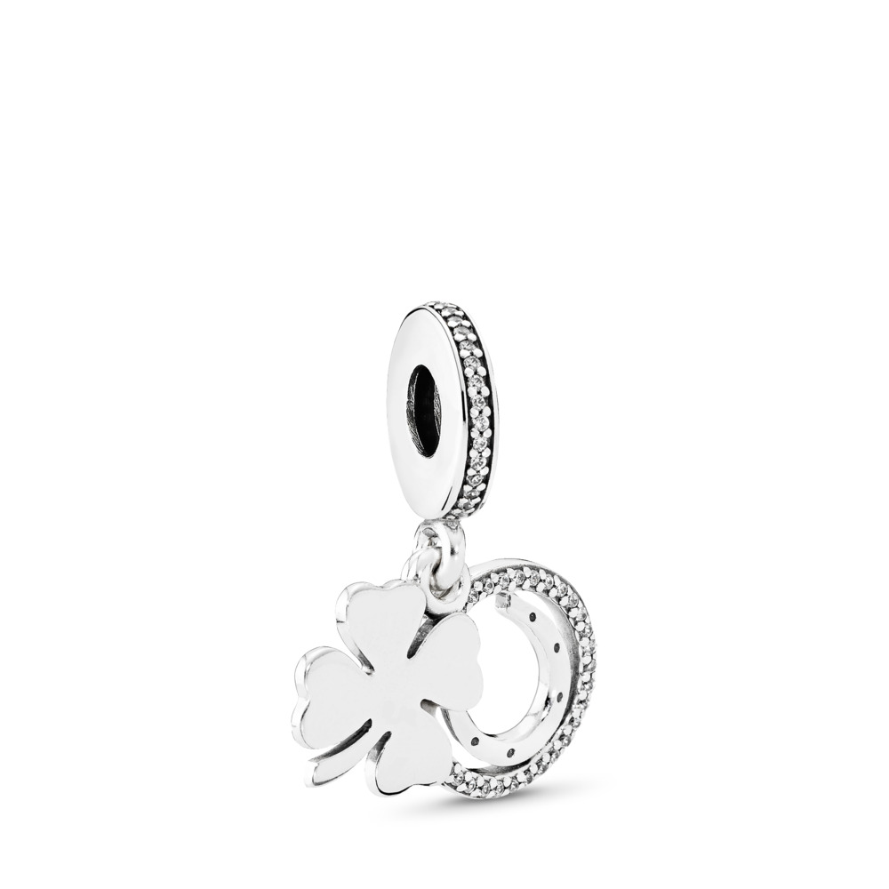 Lucky Day, Clear CZ, Sterling silver, Cubic Zirconia - PANDORA - #792089CZ