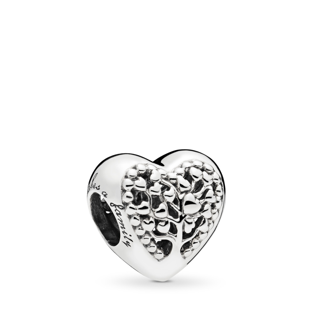 Flourishing Hearts Charm, Sterling silver - PANDORA - #797058