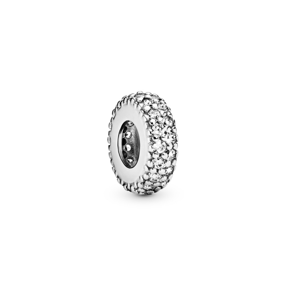 Breloque séparateur scintillant transparent, Argent sterling, Aucun autre matériel, Aucune couleur, Zircon cubique - PANDORA - #791359CZ