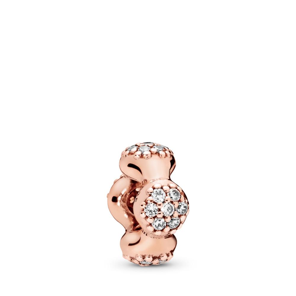 Séparateur en PANDORA Rose Modern LovePods, cz incolore, PANDORA ROSE, Aucun autre matériel, Aucune couleur, Zircon cubique - PANDORA - #787292CZ