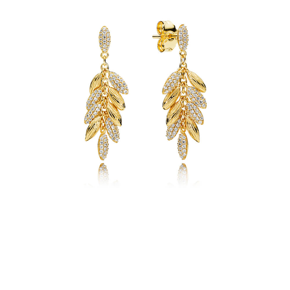 Limited Edition Floating Grains Earrings, PANDORA Shine™ & Clear CZ