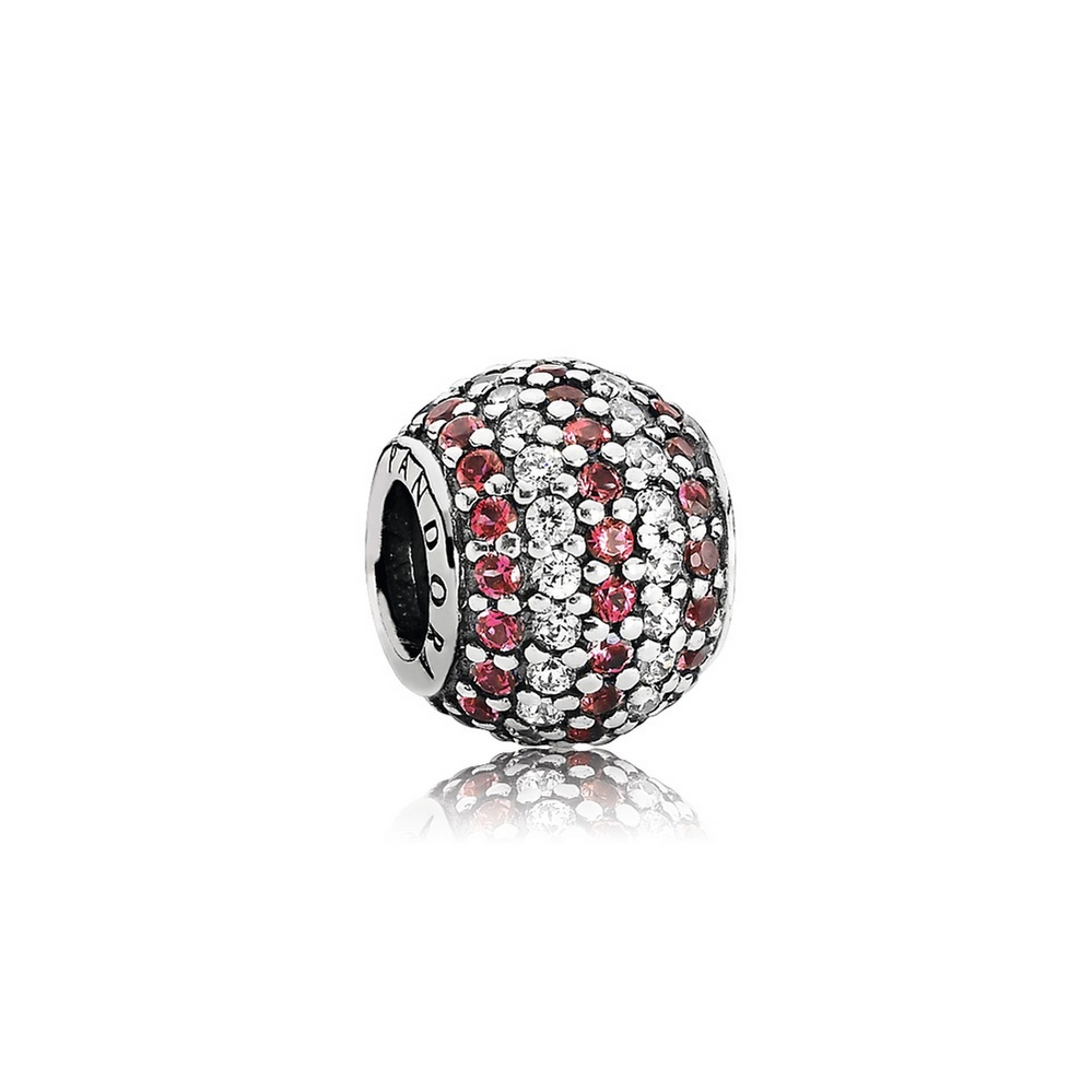 Nautical Pavé Lights, Red & Clear CZ