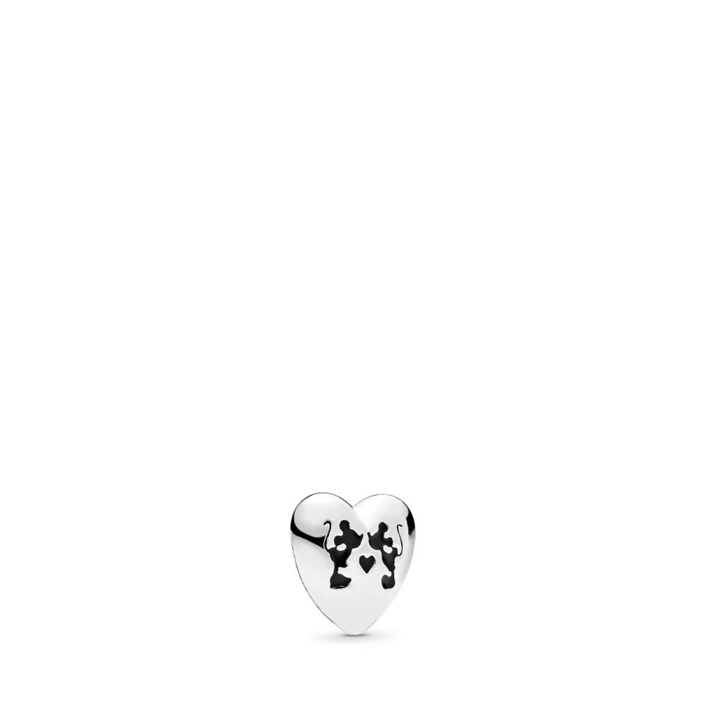 Mini Disney, Baiser magique de Mickey et Minnie, émail noir, Argent sterling, émail, Aucune pierre - PANDORA - #796347EN16
