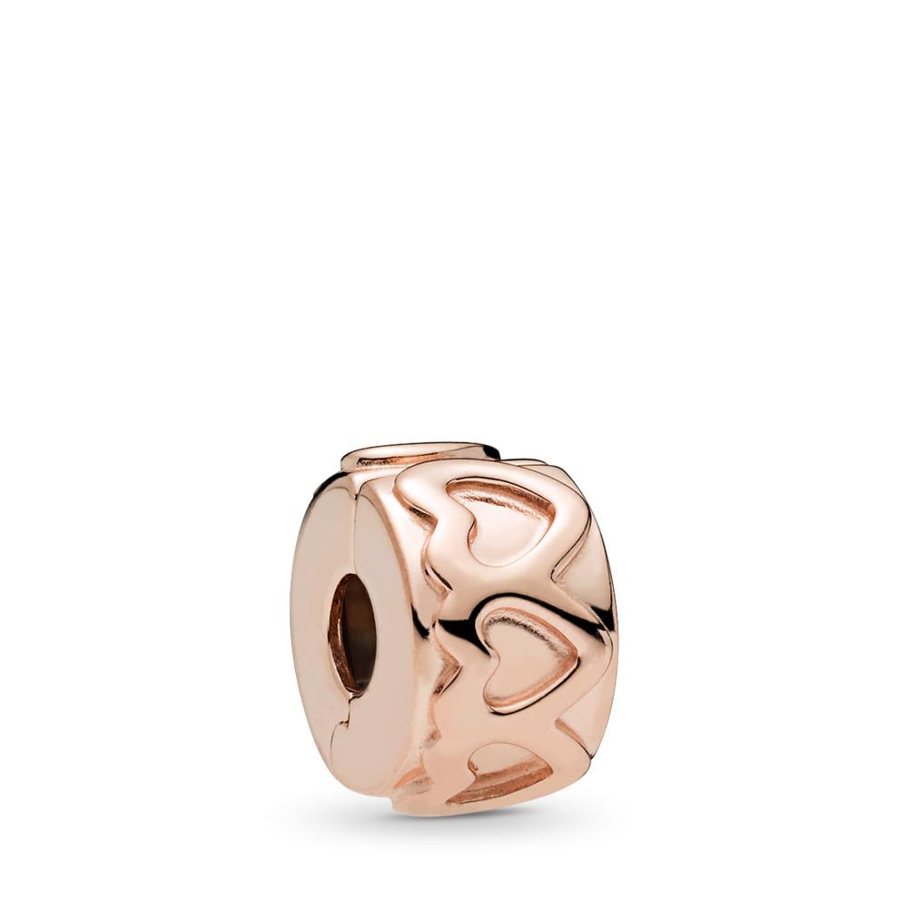 Clip Ligne de cœurs, PANDORA Rose, PANDORA ROSE, Aucun autre matériel, Aucune couleur, Aucune pierre - PANDORA - #781978