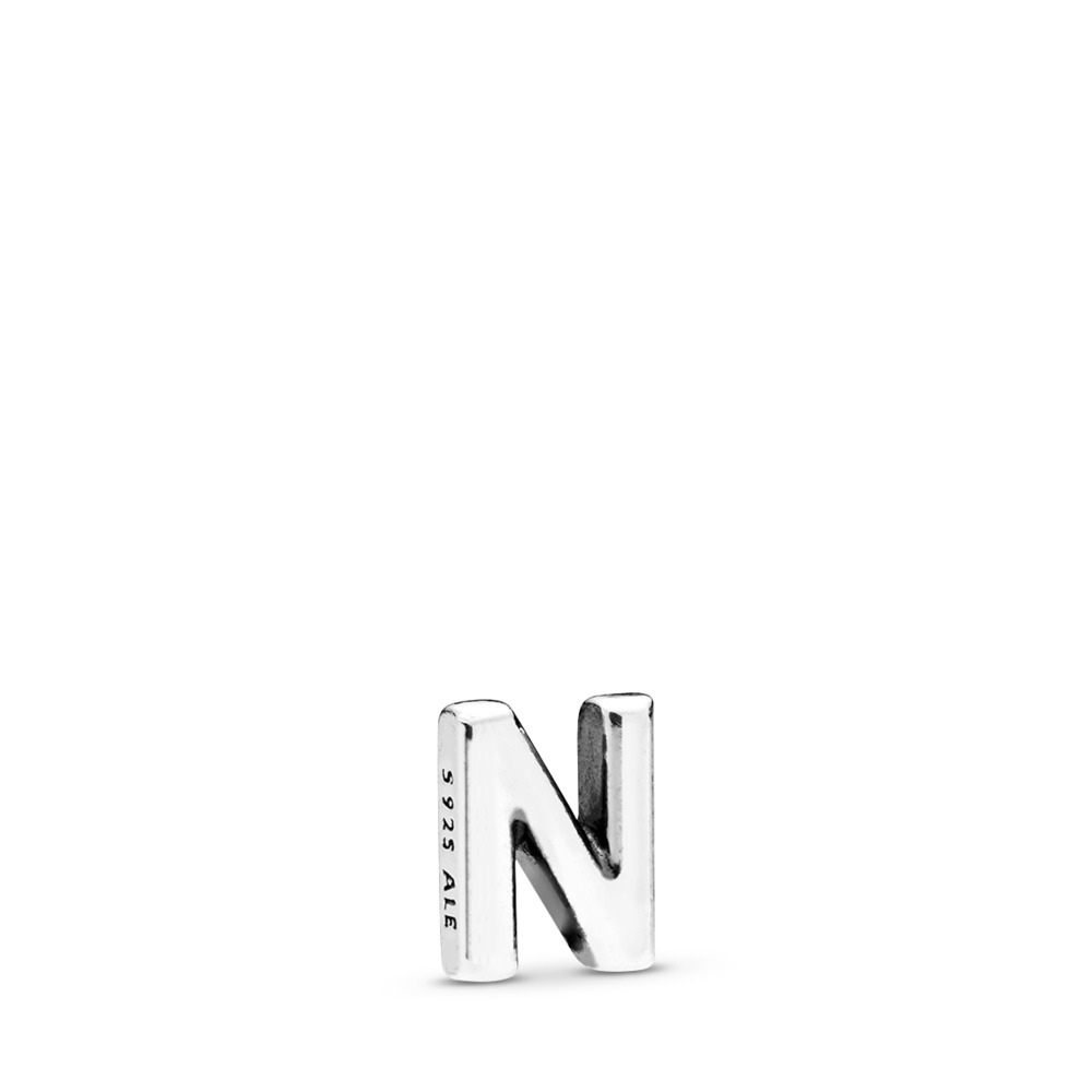 Letter N Petite Charm, Sterling silver - PANDORA - #797332