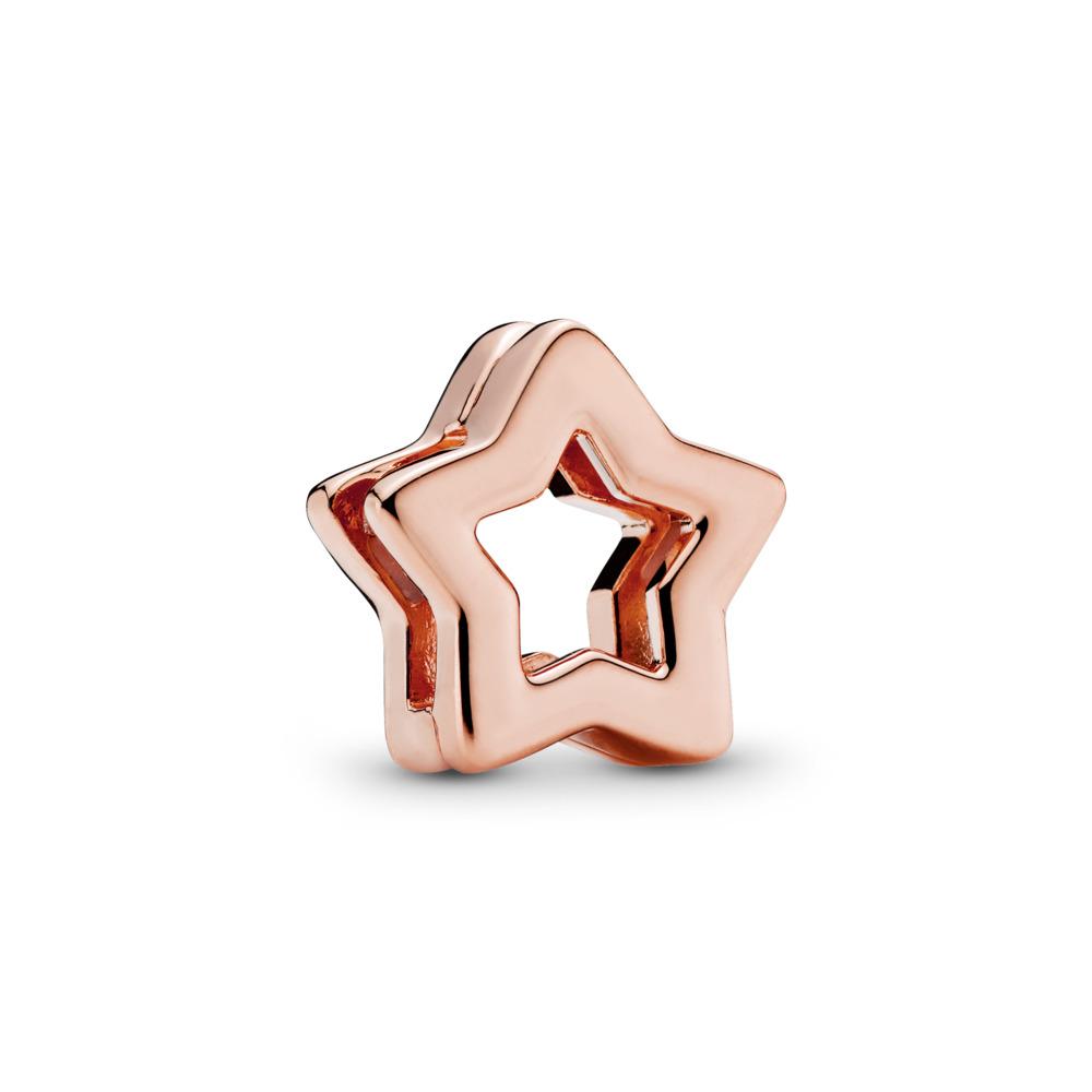 PANDORA Reflexions™ Sleek Star Charm, PANDORA Rose™, PANDORA Rose, Silicone - PANDORA - #787544
