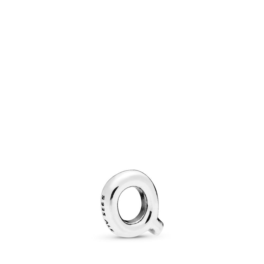 Letter Q Petite Charm, Sterling silver - PANDORA - #797335