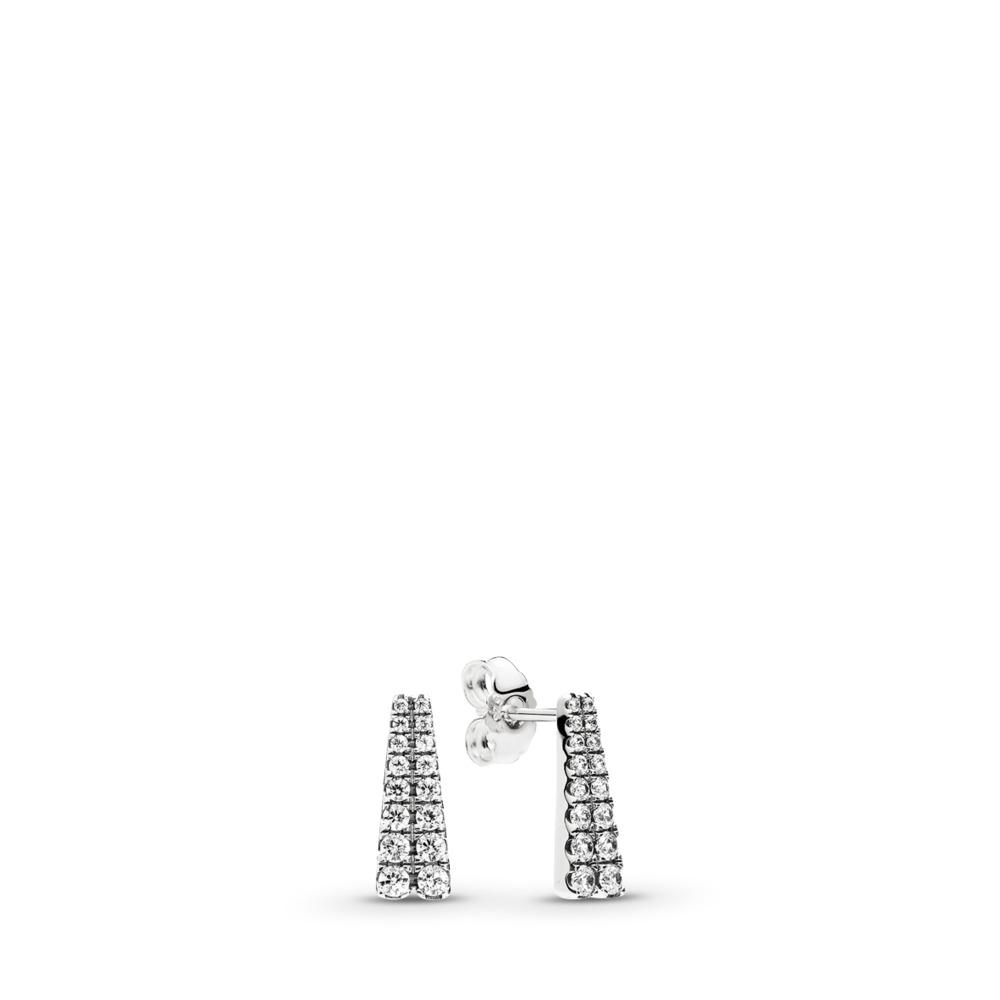 Boutons d'oreilles Étoiles filantes, cz incolore, Argent sterling, Aucun autre matériel, Aucune couleur, Zircon cubique - PANDORA - #296367CZ