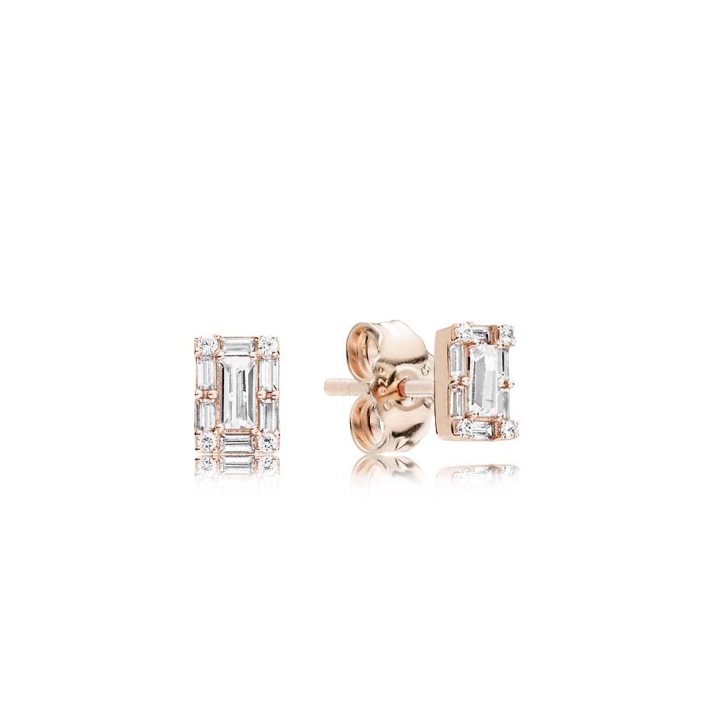 Luminous Ice Stud Earrings, PANDORA Rose™