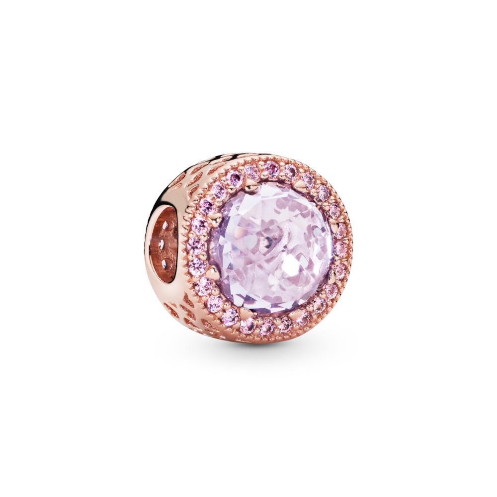 Lavender  Radiant Hearts Charm, PANDORA Rose™ & Lavender & Pink CZ, PANDORA Rose, Purple, Cubic Zirconia - PANDORA - #781725LCZ