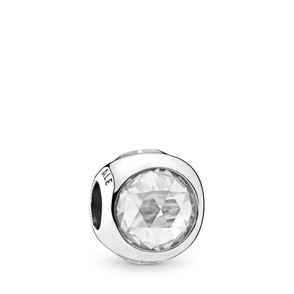 Radiant Droplet, Clear CZ, Sterling silver, Cubic Zirconia - PANDORA - #792095CZ