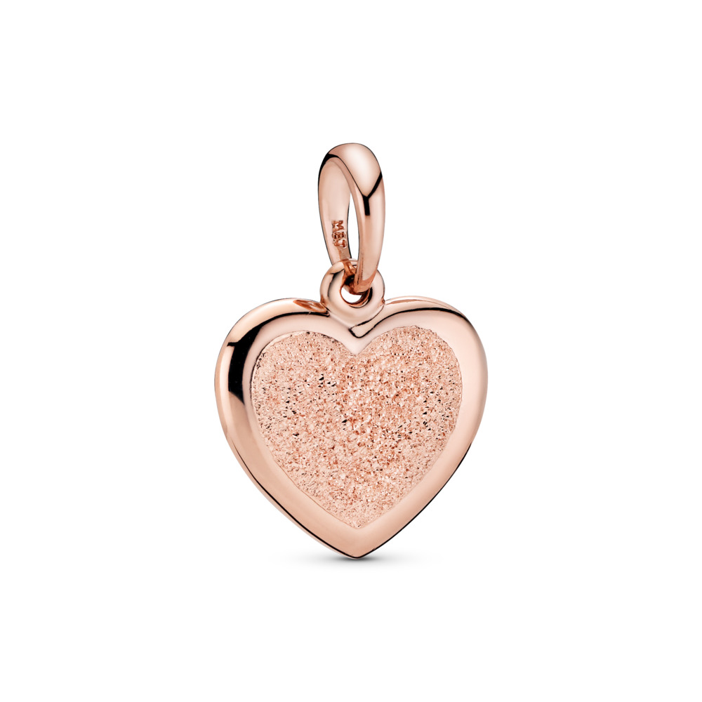 Matte Brilliance Heart Pendant, PANDORA Rose - PANDORA - #387926