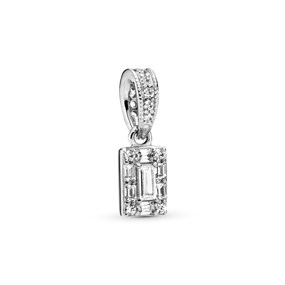 Pendentif Glace lumineuse, Argent sterling, Aucun autre matériel, Aucune couleur, Zircon cubique - PANDORA - #397543CZ