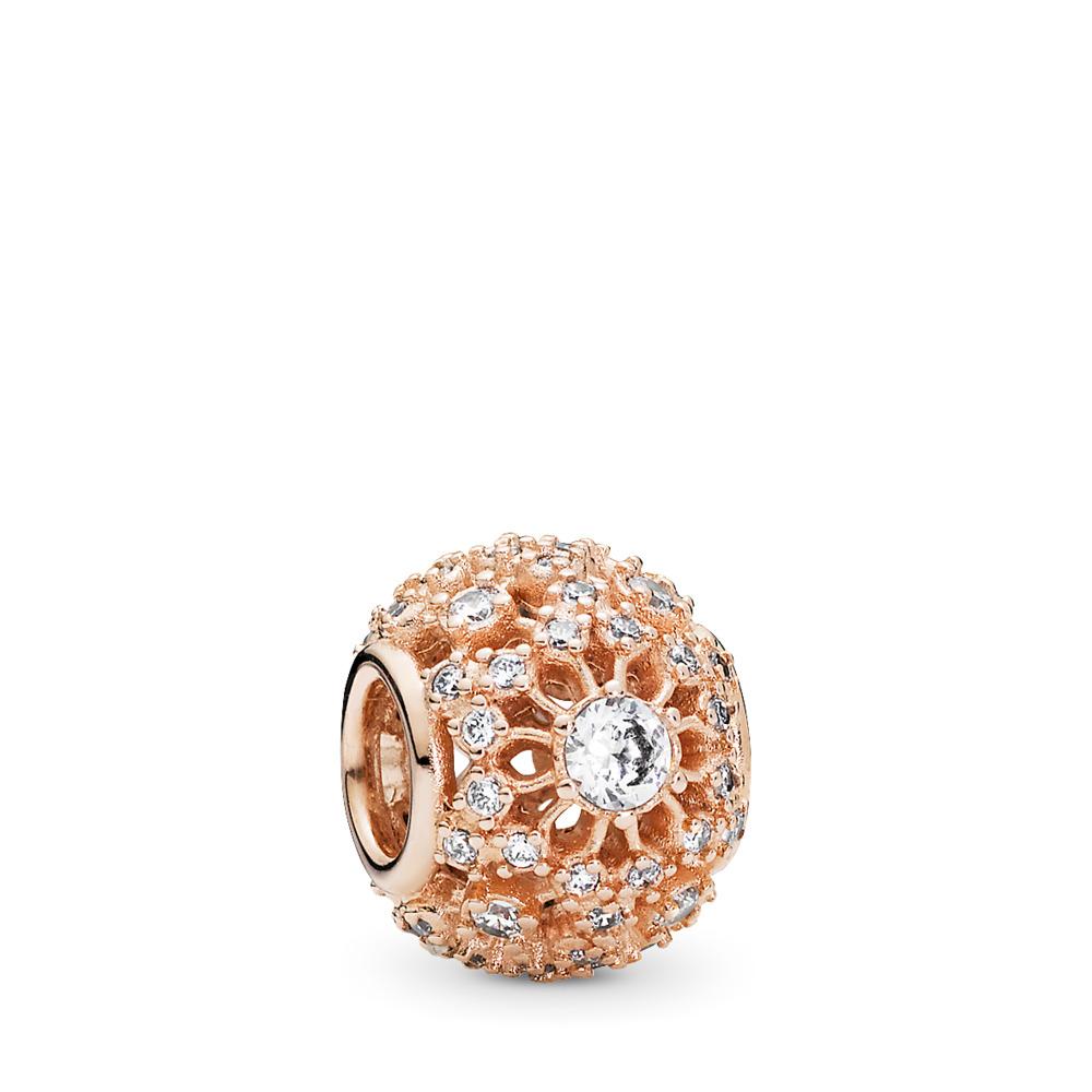 Éclat intérieur, Rose, cz incolore, PANDORA ROSE, Aucun autre matériel, Aucune couleur, Zircon cubique - PANDORA - #781370CZ