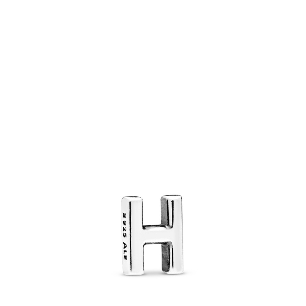 Letter H Petite Charm, Sterling silver - PANDORA - #797326