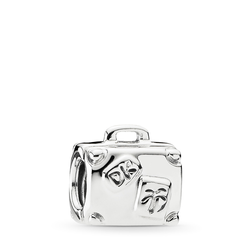 Suitcase, Sterling silver - PANDORA - #790362