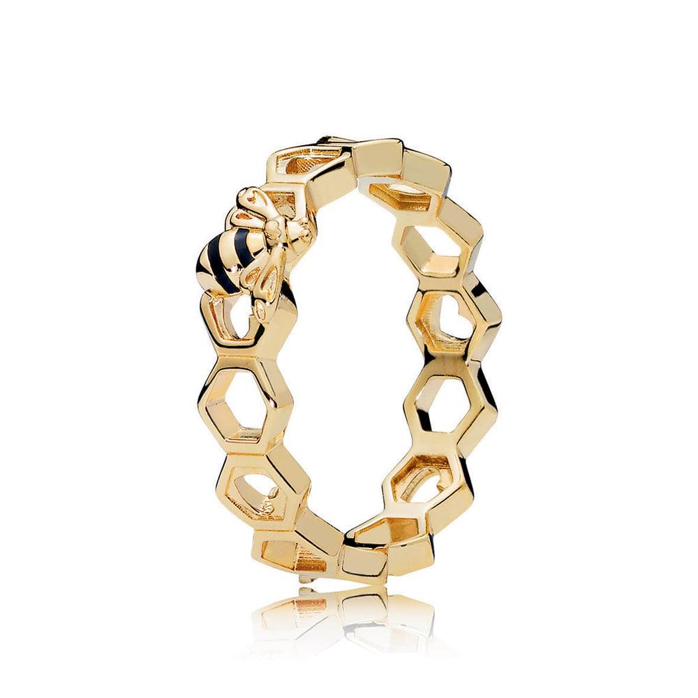 PANDORA Honeybee Ring, PANDORA Shine™ & Black Enamel