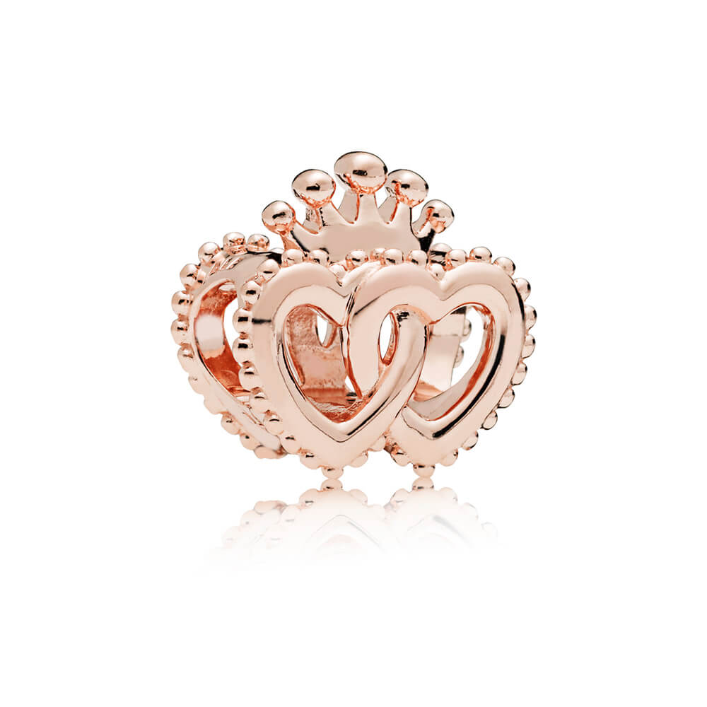 United Regal Hearts Charm, PANDORA Rose™
