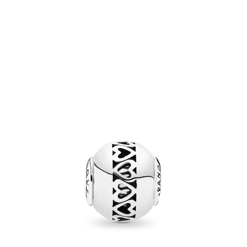 LOVE, Sterling silver, Silicone - PANDORA - #796070