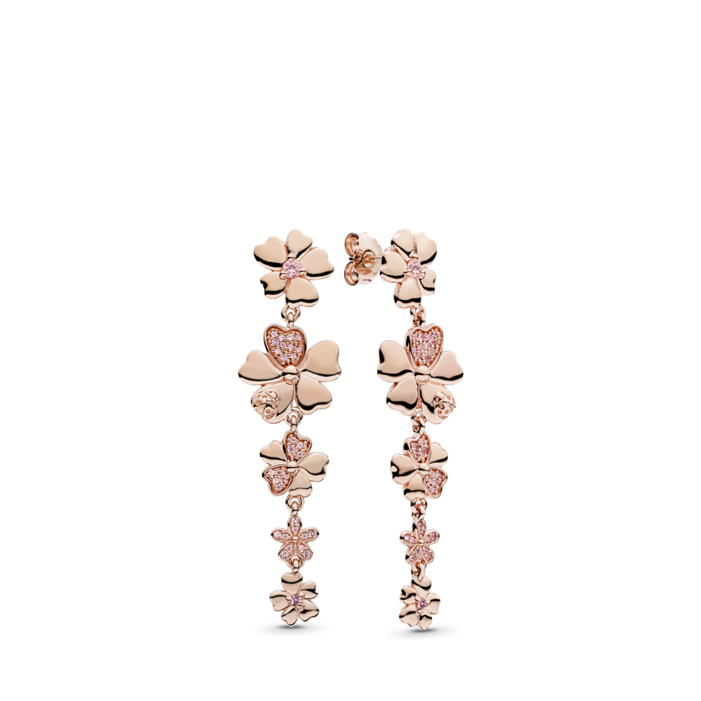 Pandora Drop Earrings: PANDORA Rose Earrings
