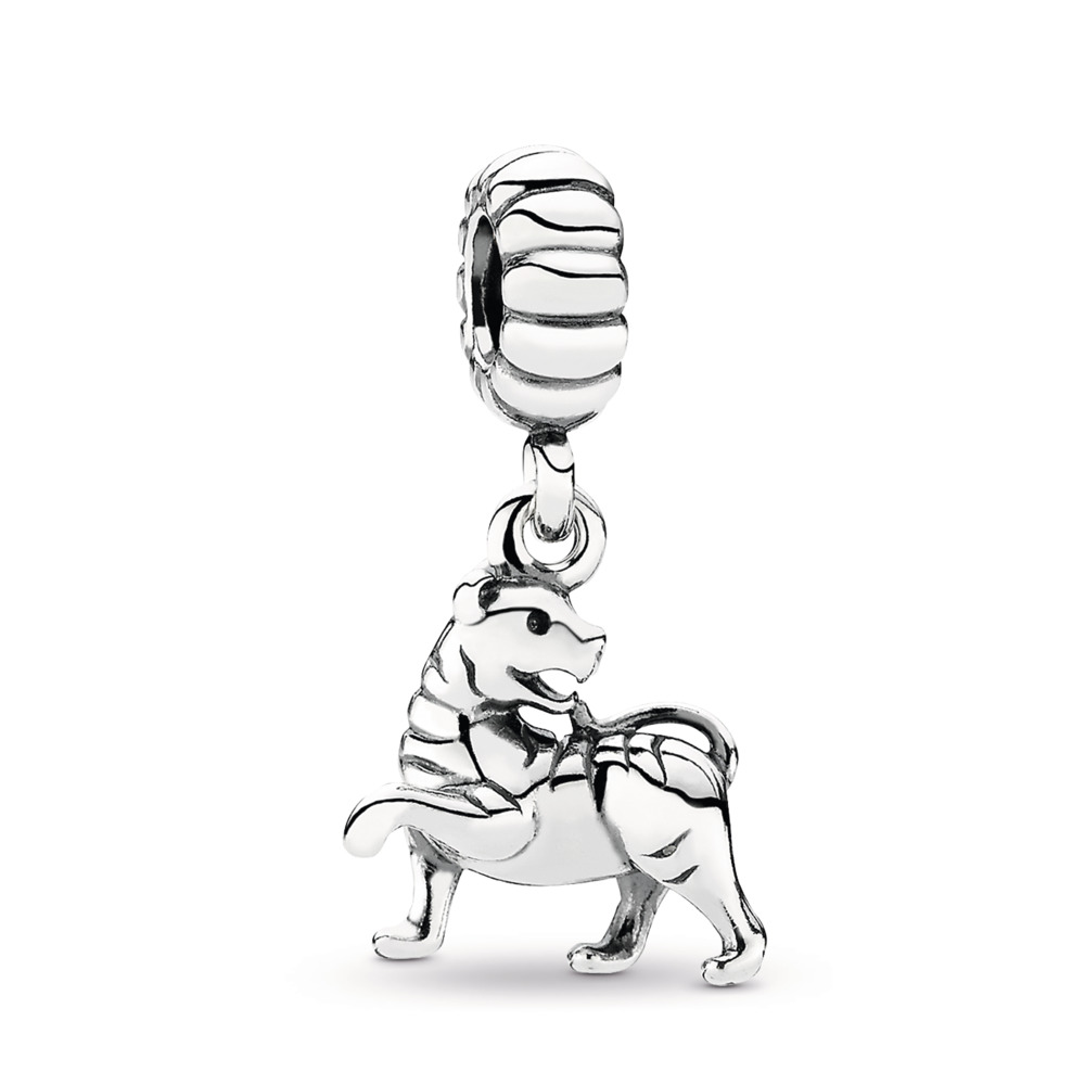 Tigress Silver Dangle Charm, Sterling silver - PANDORA - #791102