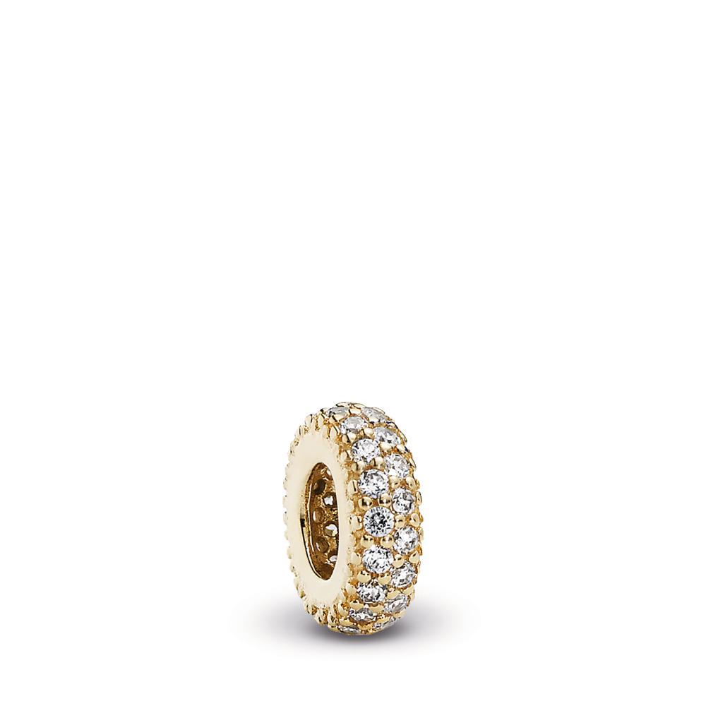 Inspiration Within Spacer, 14K Gold & CZ, Yellow Gold 14 k, Cubic Zirconia - PANDORA - #750835CZ