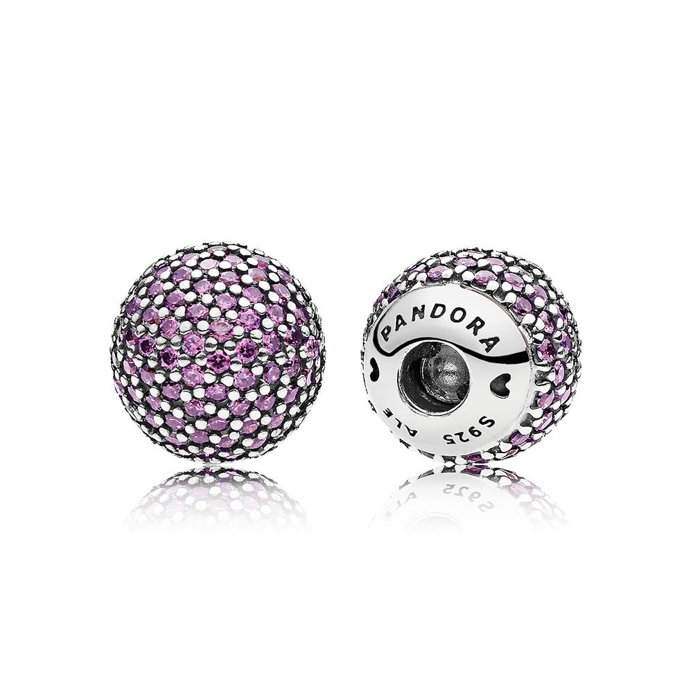 Embouts de bracelet rigide ouvert en pavé, cz violet de fantaisie