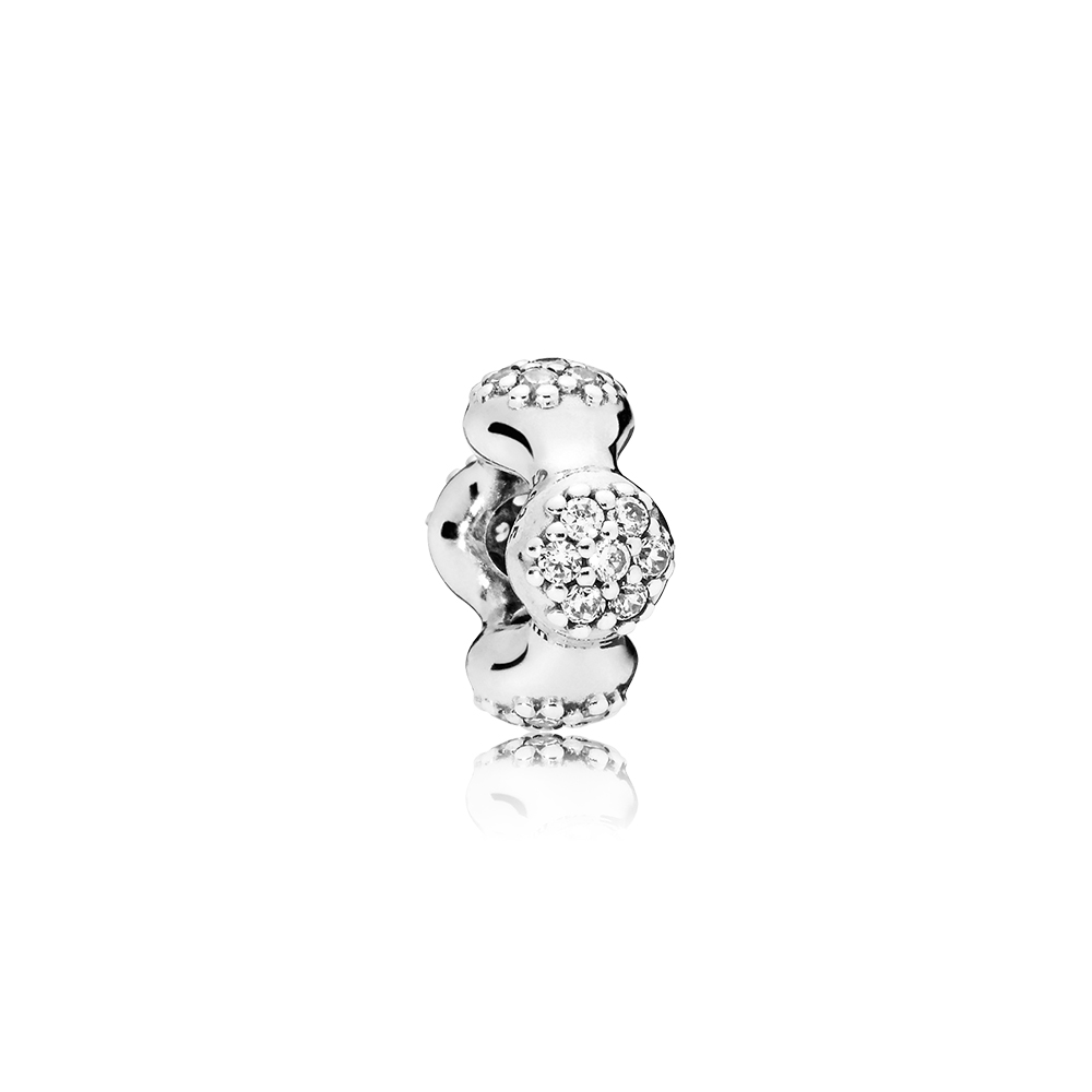 Modern LovePods™ Sterling Silver Spacer, Clear CZ
