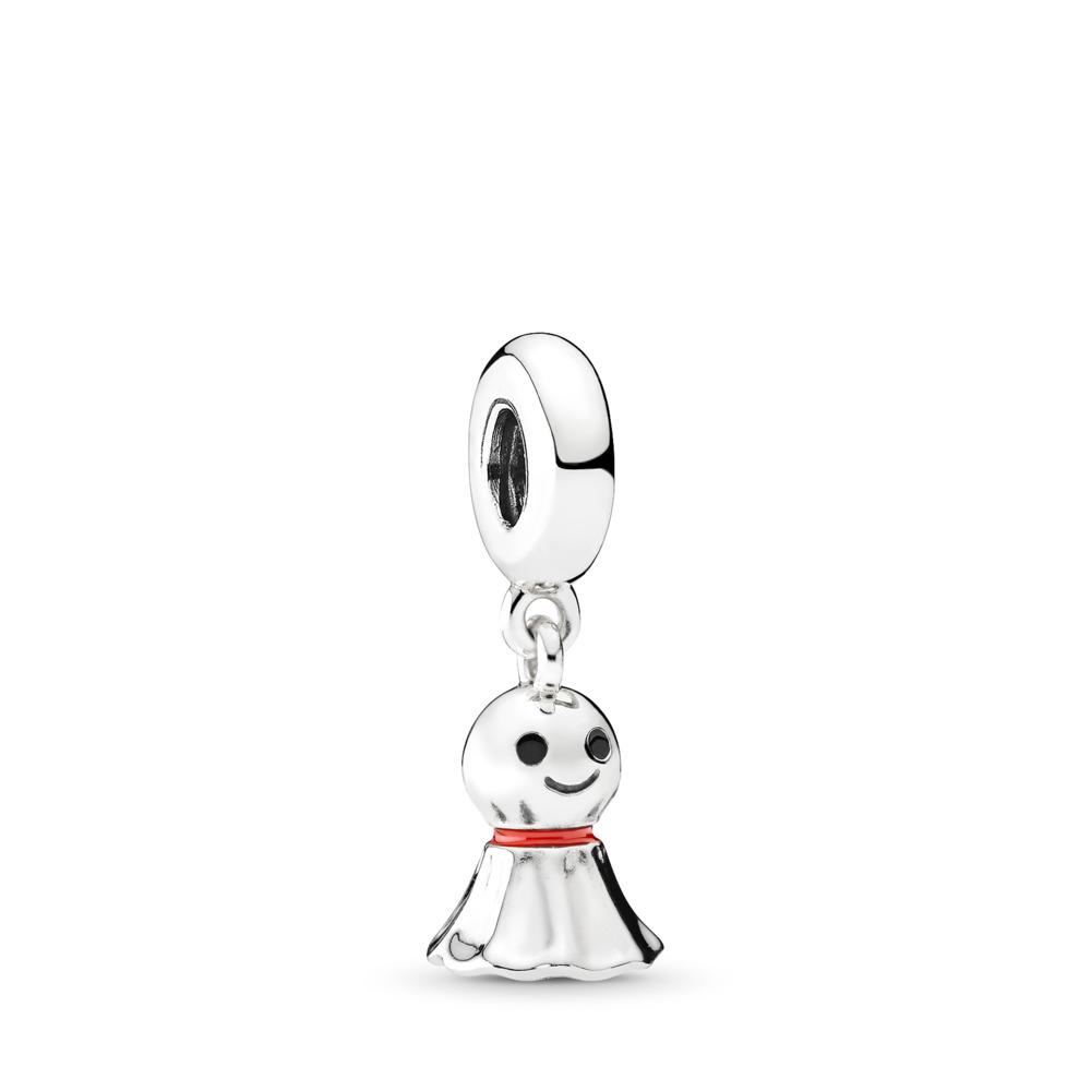 Asian Sunny Doll Charm, Sterling silver, Enamel, Black - PANDORA - #792113ENMX