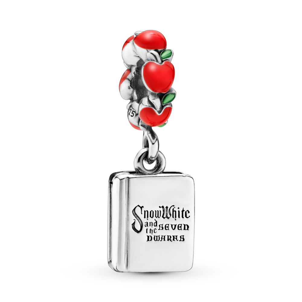 Disney, Snow White & The Seven Dwarfs Book Dangle Charm, Mixed Enamel, Sterling silver, Enamel, Green - PANDORA - #797167ENMX