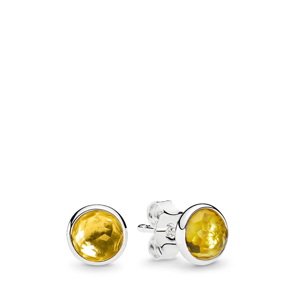 November Droplets, Citrine, Sterling silver, Yellow, Citrine - PANDORA - #290738CI