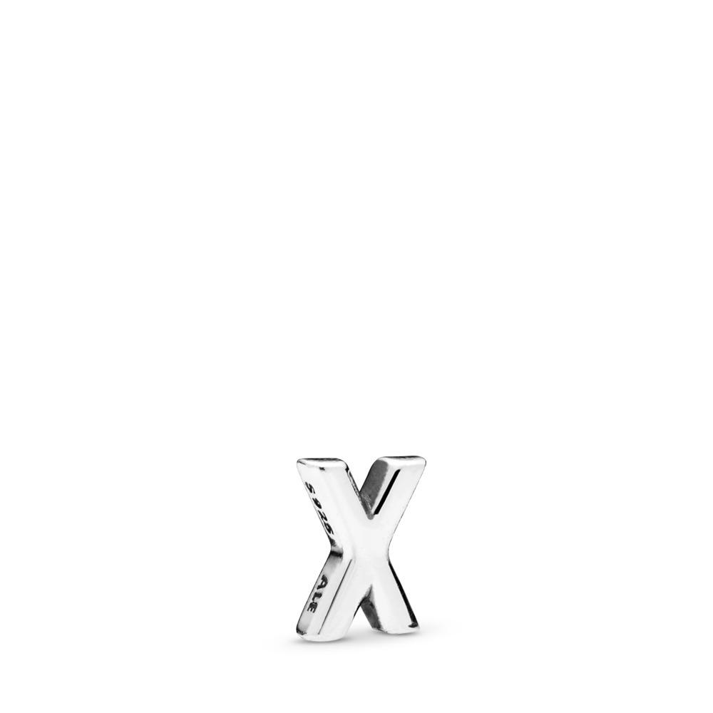 Letter X Petite Charm, Sterling silver - PANDORA - #797342