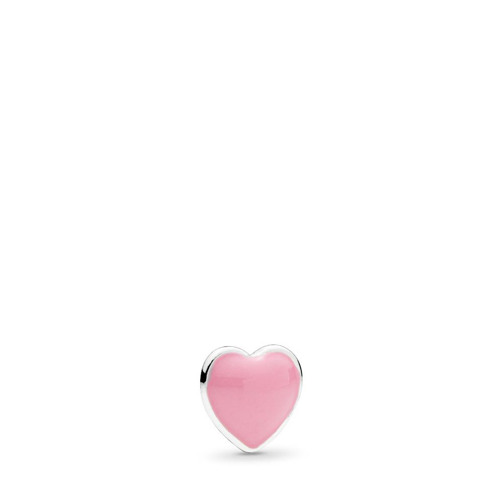 Mini cœur rose, émail rose, Argent sterling, émail, Rose, Aucune pierre - PANDORA - #792169EN24