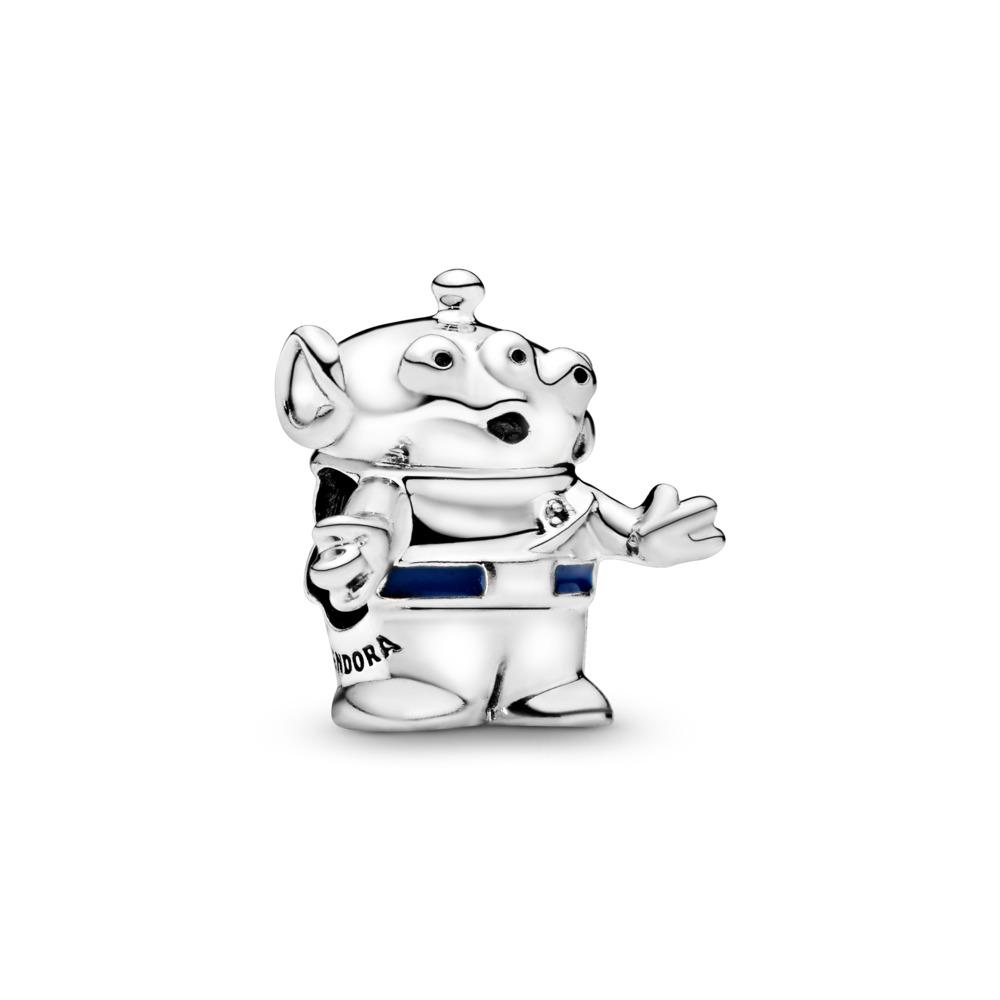 Disney Pixar, Extraterrestre d'Histoire de jouets, Argent sterling, émail, Bleu, Aucune pierre - PANDORA - #798045EN82