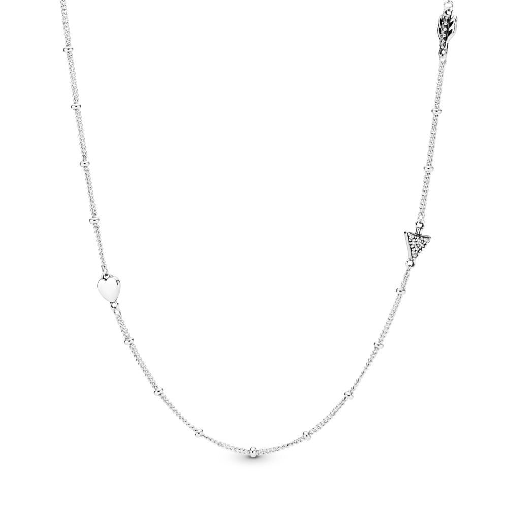 Limited Edition Sparkling Arrow Necklace, Sterling silver, Cubic Zirconia - PANDORA - #397795CZ