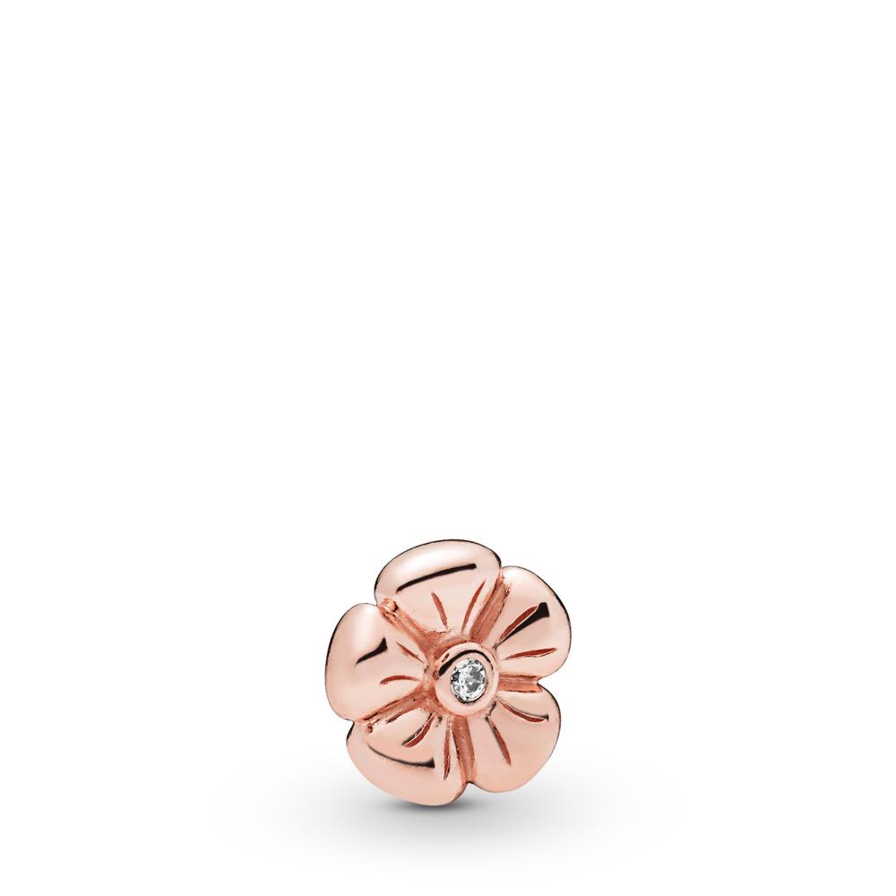 Classic Flower Petite Charm, PANDORA Rose, Cubic Zirconia - PANDORA - #787898CZ