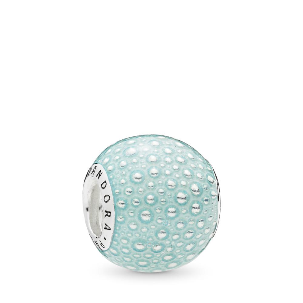 Charm Enchantement aqua, émail bleu, Argent sterling, émail, Bleu, Aucune pierre - PANDORA - #797091EN155