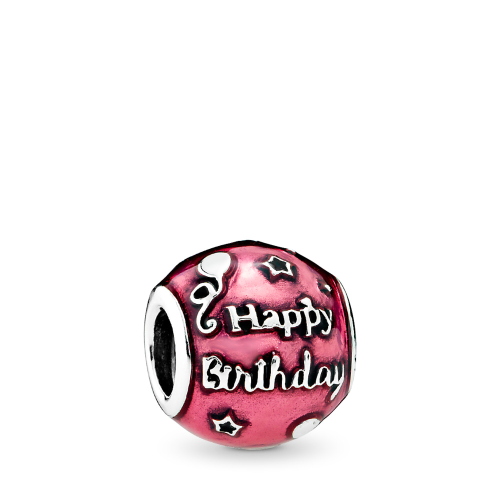 Célébration de fête, émail cerise transparent, Argent sterling, émail, Rose, Aucune pierre - PANDORA - #791983EN117
